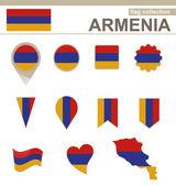 Armenia Flag Collection — Stock Vector