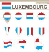 Luxembourg Flag Collection — Stock Vector