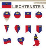 Liechtenstein Flag Collection — Stock Vector