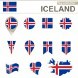 Iceland Flag Collection — Stock Vector #60652915