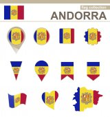 Andorra Flag Collection — Stock Vector