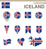 Iceland Flag Collection — Vecteur