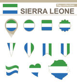 Sierra Leone Flag Collection — Stock Vector