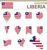 Liberia Flag Collection — Stock Vector