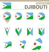 Djibouti Flag Collection — Stock Vector