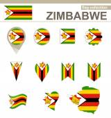 Zimbabwe Flag Collection — Stock Vector