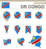 DR Congo Flag Collection — Stock Vector