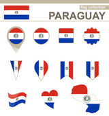 Paraguay Flag Collection — Stock Vector