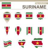 Suriname Flag Collection — Stock Vector