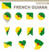 French Guiana Flag Collection — Stock Vector