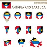 Antigua and Barbuda Flag Collection — Stock Vector