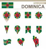 Dominica Flag Collection — Stock Vector