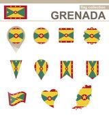 Grenada Flag Collection — Stock Vector