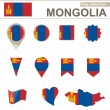 Mongolia Flag Collection — Stock Vector #61913571