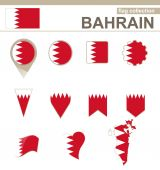 Bahrain Flag Collection — Stock Vector