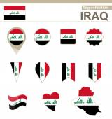 Iraq Flag Collection — Stock Vector