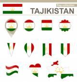 Tajikistan Flag Collection — Stock Vector