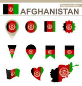 Afghanistan Flag Collection — Stock Vector