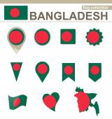 Bangladesh Flag Collection — Stock Vector