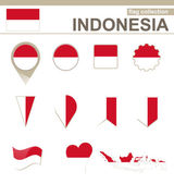 Indonesia Flag Collection — Stock Vector