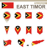 East Timor Flag Collection — Stock Vector