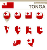 Tonga Flag Collection — Stock Vector