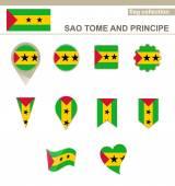 Sao Tome and Principe Flag Collection — Stock Vector