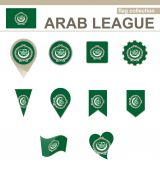 Arab League Flag Collection — Vettoriale Stock