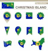 Christmas Island Flag Collection — Vettoriale Stock