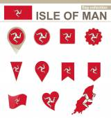 Isle of Man Flag Collection — Stock Vector