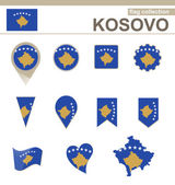 Kosovo Flag Collection — Stock Vector
