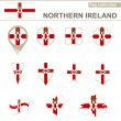 Northern Ireland Flag Collection — Stock Vector #63460373