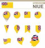 Niue Flag Collection — Stock Vector