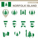 Norfolk Island Flag Collection — Stock Vector