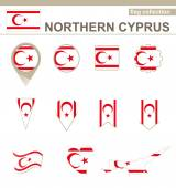 Northern Cyprus Flag Collection — Wektor stockowy