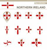 Northern Ireland Flag Collection — Wektor stockowy