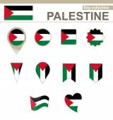 Palestine Flag Collection — Stock Vector
