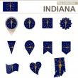 Indiana Flag Collection — Stock Vector #63564551
