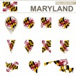 Maryland Flag Collection — Stock Vector #63565111
