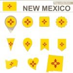 New Mexico Flag Collection — Stock Vector #63565741