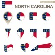 North Carolina Flag Collection — Stock Vector #63565777