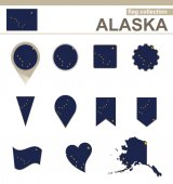 Alaska Flag Collection — Stock Vector