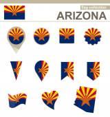 Arizona Flag Collection — Stock Vector
