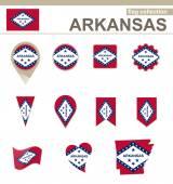 Arkansas Flag Collection — Stock Vector