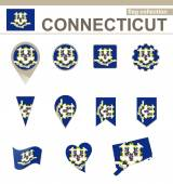 Connecticut Flag Collection — Stock Vector