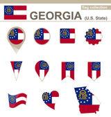 Georgia Flag Collection — Stock Vector