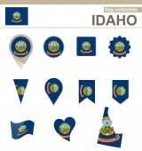 Idaho Flag Collection — Stock Vector