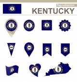 Kentucky Flag Collection — Stock Vector
