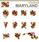 Maryland Flag Collection — Stock Vector
