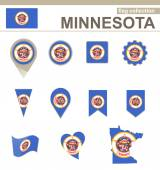 Minnesota Flag Collection — Stock Vector